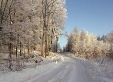 zima drogowa Obrazy Royalty Free