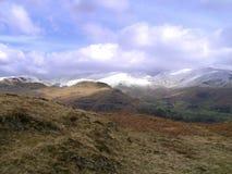 Zima dzień na wzgórzach Obraz Royalty Free