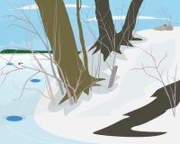 Zima dzień royalty ilustracja