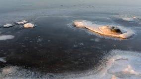 Zima dzień na rzece Fotografia Royalty Free