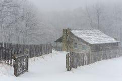 Zima, gibony uprawia ziemię, Hensley ugoda zdjęcie stock