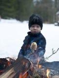 Zima grill Zdjęcie Royalty Free