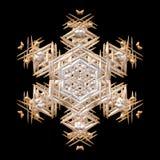 Zima Grudnia xmas 3D art deco płatka śniegu ozdobna dekoracja na czerni Zdjęcie Royalty Free