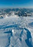 Zima halny śnieżny krajobraz Fotografia Stock