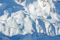 Zima halny ośrodek narciarski (Austria) Obraz Stock