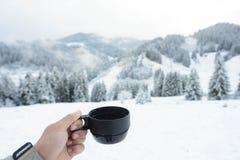 Zima i herbata Zdjęcia Royalty Free