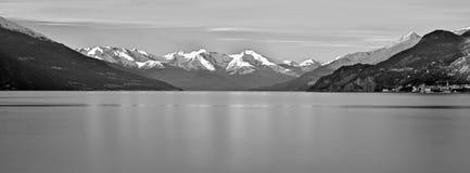 Zima jeziora pano Zdjęcia Royalty Free