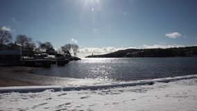 zima jeziorem w Canada zbiory
