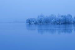 Zima jezioro Zdjęcie Royalty Free