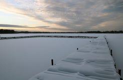 Zima jezioro Zdjęcia Stock