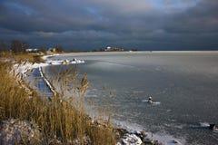 Zima jezioro Obraz Stock