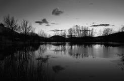 Zima jezioro Obraz Royalty Free