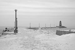 Zima jezioro Erie Zdjęcie Royalty Free