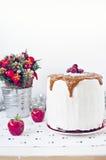 Zima karmelu tort Zdjęcia Royalty Free