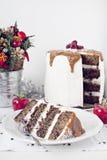 Zima karmelu tort Zdjęcie Royalty Free