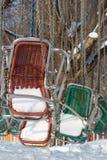 zima karuzeli Zdjęcia Stock