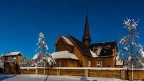 Zima kościół obraz stock