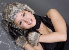 zima kobieta fotografia stock
