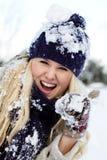 zima kobiety Fotografia Royalty Free