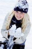 zima kobiety Zdjęcia Royalty Free