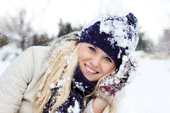 zima kobiety Obrazy Royalty Free