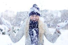 zima kobiety Zdjęcia Stock
