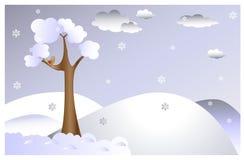 Zima krajobraz Fotografia Royalty Free