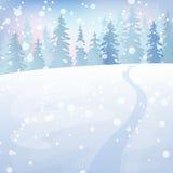 Zima krajobraz 4 Zdjęcia Stock