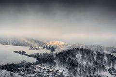 Zima krajobraz zdjęcie royalty free