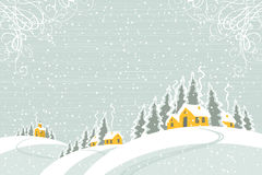 Zima krajobraz royalty ilustracja