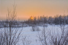 Zima krajobraz. Obrazy Stock