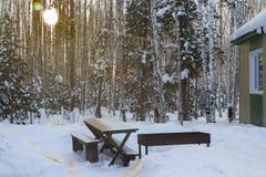 Zima krajobraz. Zdjęcie Royalty Free
