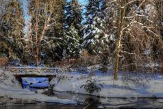 Zima krajobraz II Zdjęcie Royalty Free