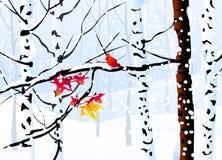 Zima krajobraz (las) - ilustracji