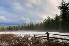 Zima krajobraz na Lummi wyspie Zdjęcia Stock