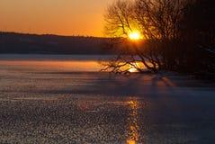 Zima krajobraz na zachodnim wybrzeżu, Szwecja obrazy royalty free