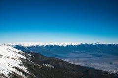 Zima krajobraz nakrywać góry Pirin Obrazy Stock