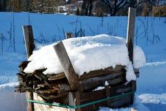 Zima krajobraz, notuje dalej Dolomiti góry w Cadore, Włochy Zdjęcie Royalty Free