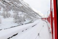 Zima krajobraz, Szwajcaria Obrazy Royalty Free