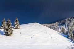 Zima krajobraz w Brasov, Rumunia Obraz Royalty Free