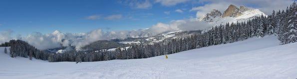 Zima krajobraz w Dolomiti obrazy stock