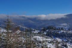 Zima krajobraz w górach 5 Obraz Royalty Free