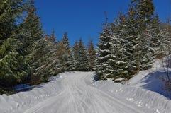 Zima krajobraz w górach 6 Zdjęcia Royalty Free