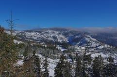 Zima krajobraz w górach 8 Zdjęcie Royalty Free