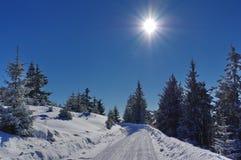 Zima krajobraz w górach Zdjęcia Royalty Free