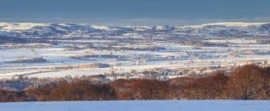 Zima krajobraz w UK panoramie obrazy royalty free