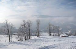 Zima krajobraz w Westendorf Austria fotografia stock