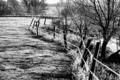Zima krajobraz w wsi fotografia stock