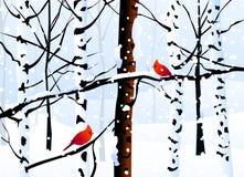 Zima krajobraz - wektor (las) royalty ilustracja