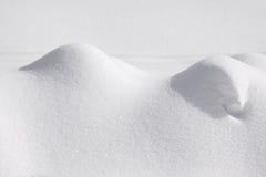 Zima krajobraz z śnieżnymi bankami zdjęcia royalty free